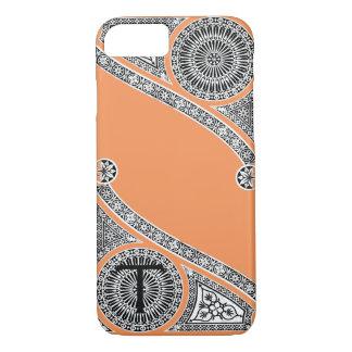 RENAISSANCE ARCHITECT Tangerine Orange Monogram iPhone 8/7 Case