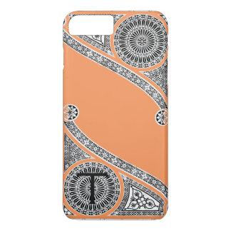 RENAISSANCE ARCHITECT Tangerine Orange Monogram iPhone 8 Plus/7 Plus Case