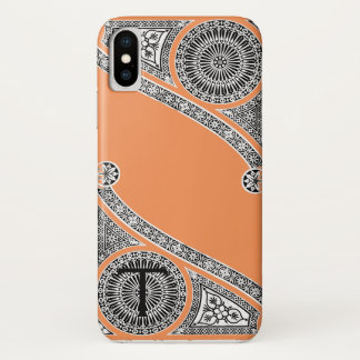 RENAISSANCE ARCHITECT Tangerine Orange Monogram iPhone X Case