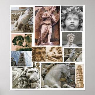 Renaissance architecture and sculpture POSTER