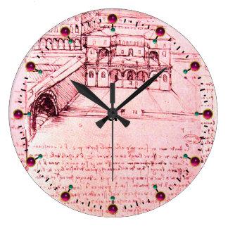 RENAISSANCE ARCHITECTURE,ARCHITECT,Pink Wallclock