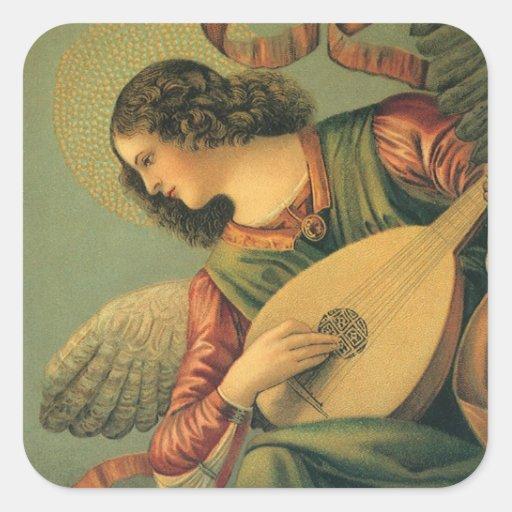 Renaissance Art, Angel Musician, Melozzo da Forli Square Sticker