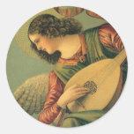 Renaissance Art, Angel Musician, Melozzo da Forli Round Sticker