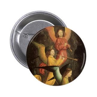 Renaissance Art, Choir of Angels by Simon Marmion Pinback Button