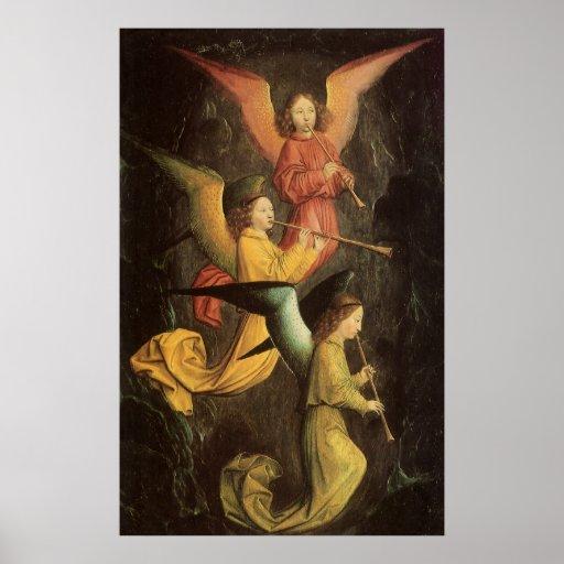 Renaissance Art, Choir of Angels by Simon Marmion Poster