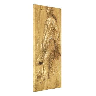 Renaissance Art, Dancing Muse by Andrea Mantegna Canvas Print