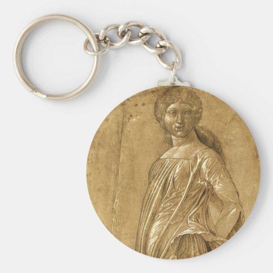 Renaissance Art, Dancing Muse by Andrea Mantegna Keychain