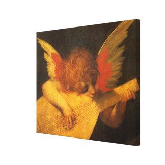 Renaissance Art Musician Angel by Rosso Fiorentino Canvas Print