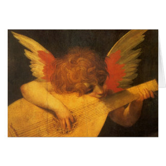 Renaissance Art Musician Angel by Rosso Fiorentino Card