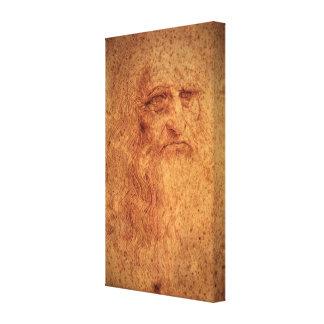 Renaissance Art Self Portrait by Leonardo da Vinci Canvas Print