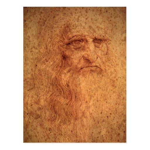 Renaissance Art Self Portrait by Leonardo da Vinci Postcard