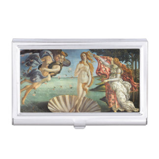 Renaissance Art, The Birth of Venus by Botticelli Business Card Case