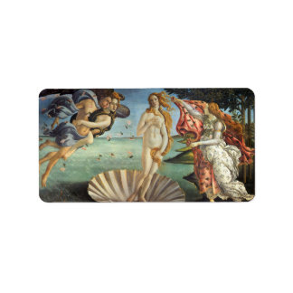 Renaissance Art, The Birth of Venus by Botticelli Label