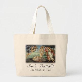 Renaissance Art, The Birth of Venus by Botticelli Large Tote Bag