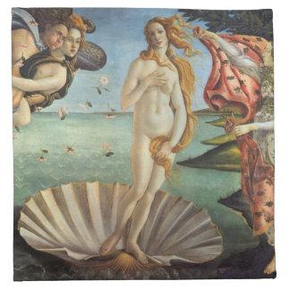 Renaissance Art, The Birth of Venus by Botticelli Napkin