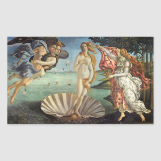 Renaissance Art, The Birth of Venus by Botticelli Rectangular Sticker
