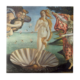 Renaissance Art, The Birth of Venus by Botticelli Tile
