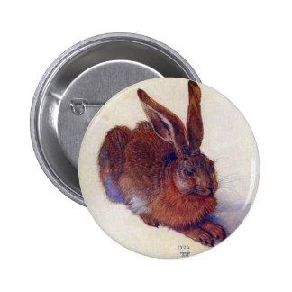 Renaissance Art, Young Hare by Albrecht Durer 2 Inch Round Button