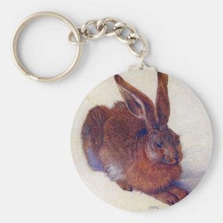 Renaissance Art, Young Hare by Albrecht Durer Basic Round Button Keychain