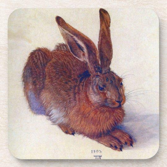 Renaissance Art, Young Hare by Albrecht Durer Drink Coaster