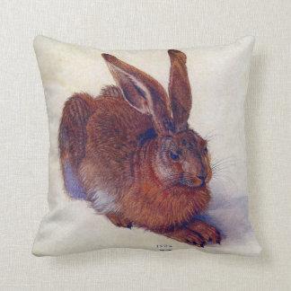 Renaissance Art, Young Hare by Albrecht Durer Throw Pillow