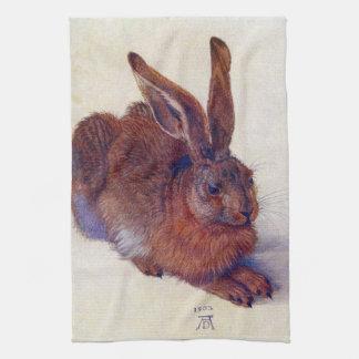Renaissance Art, Young Hare by Albrecht Durer Towels