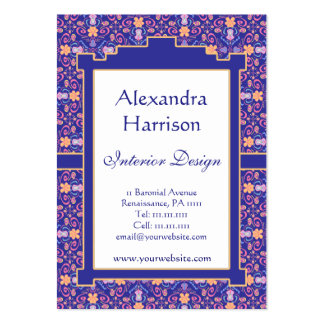 Renaissance Arts and Crafts Floral Pattern Business Cards