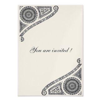 RENAISSANCE , Black and Champagne Metallic Card