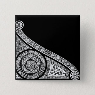 RENAISSANCE Black White Architectural Decor Button