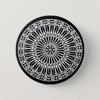 RENAISSANCE Black White Architectural Decor Pinback Button