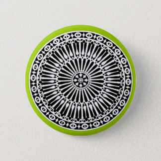 RENAISSANCE Black White Green Architectural Decor Button