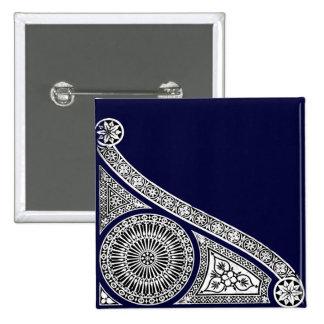 RENAISSANCE ,blue Pinback Button