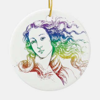 Renaissance Botticelli Venus Ceramic Ornament