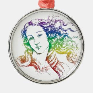 Renaissance Botticelli Venus Metal Ornament