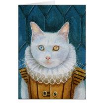 """Renaissance Cat"" Blank Card"