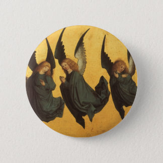 Renaissance Christmas Angels, Master of Housebook Pinback Button