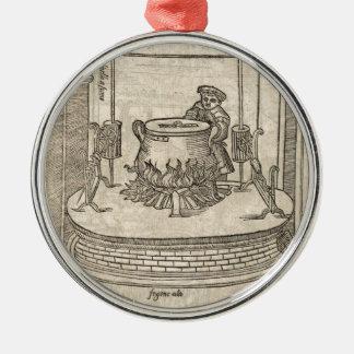 Renaissance cook metal ornament