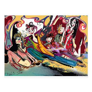 Renaissance Deco Cirque Series Postcard