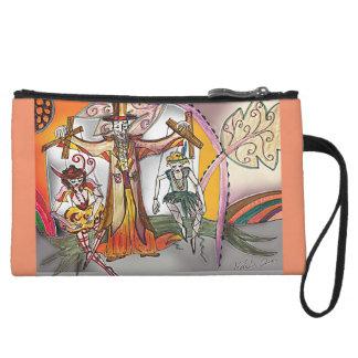 Renaissance Deco Cirque - Vaudeville Puppets Wristlet Wallet