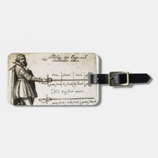 Renaissance Fencing Luggage Tag