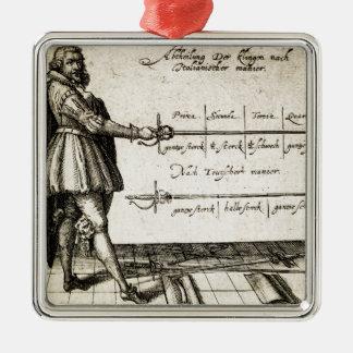 Renaissance Fencing Metal Ornament