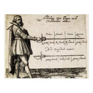 Renaissance Fencing Postcard