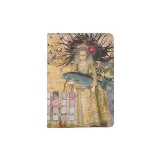 Renaissance fishing Gothic Whimsical Pisces Woman Passport Holder