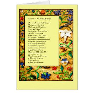 Renaissance Garden - Children's Verse Card