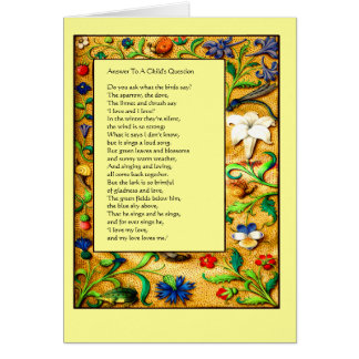 Renaissance Garden - Children's Verse Greeting Card