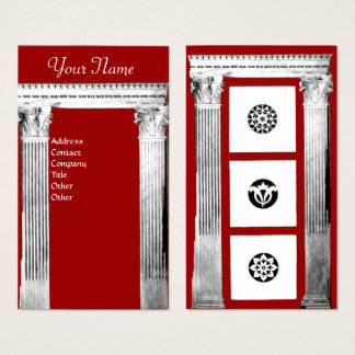 RENAISSANCE GATE Classic Architecture, Red Business Card