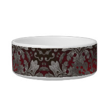 renaissance gothic metallic red and black mandala bowl