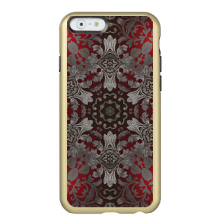 renaissance gothic metallic red and black mandala incipio feather shine iPhone 6 case