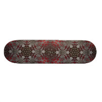 renaissance gothic metallic red and black mandala skateboard deck
