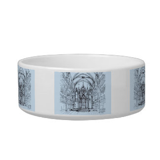 Renaissance gothic Orensanz drawing in blue Bowl